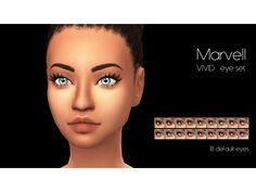 The Sims 4 VIVID eye set - design by Marvell