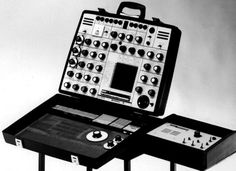 The EMS Synthi A, and a version of it with a built-in keyboard and sequencer, the EMS Synthi AKS, is a portable modular analog synthesizer made by EMS in England starting in Music Machine, Drum Machine, Barn Plans, Garage Plans, Vintage Synth, Internal Design, Recording Studio Design, Music Station, Electronic Music
