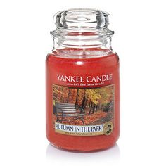 Yankee Candle Autumn in the Park : The scent of fresh peeled apple and the crispness of fallen leaves--it's definitely fall. We've added in a dash of lemon zest and a hint of pumpkin to capture an afternoon on a gorgeous autumn walk.