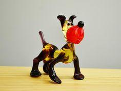 BullDog Glass Figurine Dog Animals Glass Doggy Miniature Art | Etsy Caterpillar Toys, Dog Sculpture, Glass Figurines, Owl Pet, Glass Collection, Handmade Toys, Glass Art, Art Pieces, Miniatures