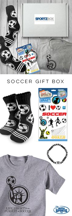 Shoot and score! When you purchase a soccer Sportzbox for your soccer player, you'll both win! They'll love the exclusive soccer gifts from ChalkTalkSPORTS and you'll love how much you'll save by bundling some of our best products into one great gift box!