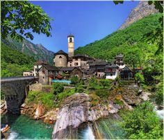village of Ticino lavertezzo (Switzerland)