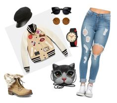 """""""Whatever"""" by belu7c on Polyvore featuring beauty, Coach, Forever 21, August Hat, Steve Madden and Newgate"""