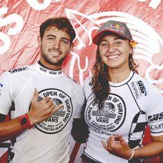 The Champions... Alejo Muniz and Carissa Moore...