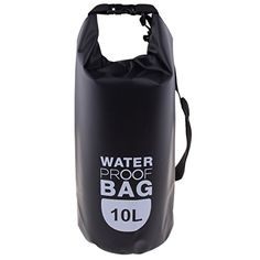 078b0e0d989 Vi Roll Top Waterproof Dry Bag for Boating Fishing Rafting Beach Hiking  Camping Black 10L