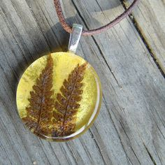 Autumn Fern Necklace - Real Pressed Leaf Pendant  $32