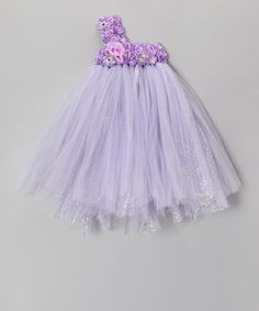 Take a look at this Lavender Blossom Tutu Dress - Infant, Toddler & Girls by Bébé Oh La La on #zulily today!