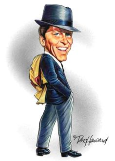 Frank Sinatra Caricature-my momma once told she loved his singing so much ...and had a crush on him!
