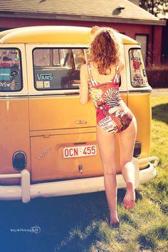 vw kombi, girl, summer http://www.flickr.com/photos/chrisdlm/