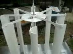 pvc vertical wind turbine- very cool!