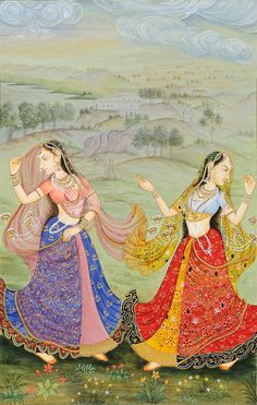 The Colors of Dance, Watercolor Painting On Paper by Navneet Parikh Pichwai Paintings, Mughal Paintings, Indian Art Paintings, Indian Traditional Paintings, Indiana, Indian Folk Art, Art Folder, Madhubani Painting, Krishna Art