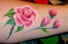 AmaDazzle Arts (Christina Kerr Davison) - BEAUTIFUL one stroke rose & rose buds!! Puts my pitiful roses to shame.