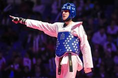Queretaro, Μεξικό 2014 Παγκόσμιο WTF Taekwondo Grand Prix Final. Ο τελικός αγώνας στην κατηγορία των ανδρών - 58kg στις 3 του Δεκέμβρη 2014 είναι ένα γεγονός που θεωρείται το αποκορύφωμα της ελίτ τ...