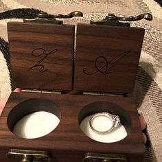 solid WALNUT and Oak handmade from raw materials DIMENSIONS -Box Dimensions (approx.): x x inch / x 4 cm -Pockets Diameter (approx. Wooden Ring Box, Wooden Rings, Proposal Ring Box, Believe, Bandsaw Box, Ring Bearer Box, Wedding Ring Box, Picture On Wood, Custom Boxes