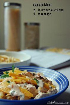 Sałatka z grillowanym kurczakiem i mango