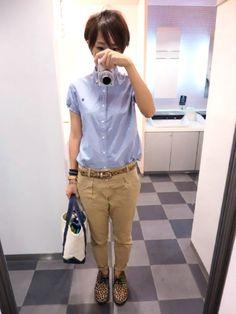 本日はスタンダードなスタイル。 BDシャツにチノは間違いないコーディネート。 ただ、人とかぶる率高いので要注意。 シャツ/ジムフレックス パンツ/GAP バッグ/L.L.Bean 靴/Gaimo