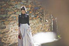 Look Invitada Perfecta para boda de noche de That´s my Closet con falda DelPozo.Total look Thats my Closet