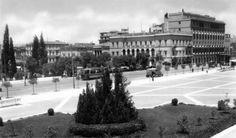 Αθήνα, 1937, άποψη Πλατείας Συντάγματος. Athens, History, Outdoor, Outdoors, Historia, Outdoor Games