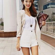 Ssongbyssong Womens Play Time Roll Up Casual Shorts High End Fashion Brand #ssongbyssong #CasualShorts