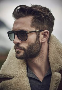 Cute short and full beard styles for men are changing rapidly and gaining lot of importance in the male society. Full beard style is the most popular trend Mens Modern Hairstyles, Quiff Hairstyles, Cool Hairstyles, Glasses Hairstyles, Hairstyle Ideas, Modern Haircuts, Hairstyles 2016, Popular Hairstyles, Trendy Haircuts