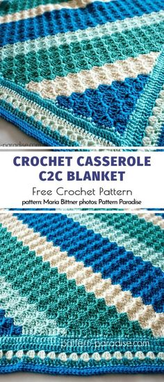 Great Baby Blankets Kostenlose Häkelanleitungen - Knitting and Crochet Crochet Afghans, C2c Crochet Blanket, Crochet Quilt, Crochet Blanket Patterns, Crochet Stitches, Free Crochet, Crochet Baby, Knitting Patterns, Knit Crochet
