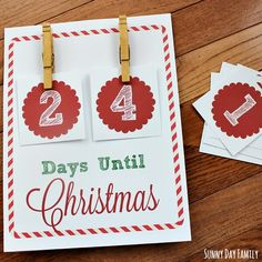 Track how many days until Christmas with this free Christmas Countdown Printable! This DIY Christmas Countdown sign is flexible and easy to put together - kids love this Christmas countdown activity! Christmas Projects For Kids, Preschool Christmas, Diy Christmas Gifts, Christmas Ideas, Countdown Until Christmas, Days Until Christmas, Winter Christmas, Love Holidays, Xmas Decorations