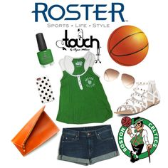 """""""Celtics Touch Outfit"""" by rosterstores on Polyvore Featured Products: @Courtney Celtics @Juan Manuel Sanchez Madrid By Alyssa Milano Summer Tank: $45.00 Item Number: 140336-300"""