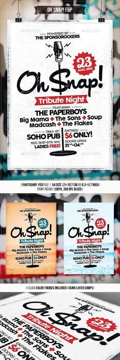 logo snap flyer design