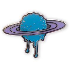 Melting Saturn Enamel Pin ($6) ❤ liked on Polyvore featuring jewelry, brooches, fillers, pins, accessories, brooch, pin jewelry, enamel brooch, pin brooch and enamel jewelry