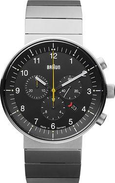 Braun Mens Prestige Chronograph Stainless Watch