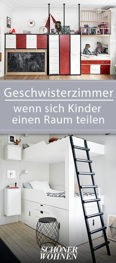 Geschwisterzimmer: Ideen Zum Gestalten Und Einrichten.  RaumaufteilungHochbettKinderzimmer IdeenZuhauseTippsKinderzimmer ...