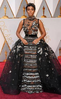 Janelle Monae crushing it on the 2017 Oscars red carpet