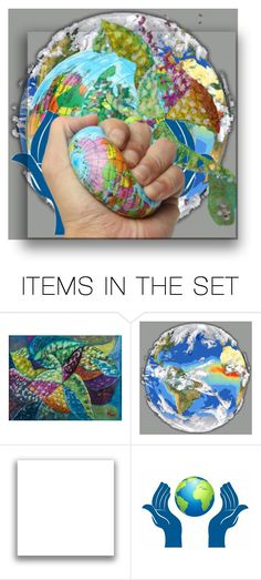 """""""Planet World"""" by lubime ❤ liked on Polyvore featuring art"""