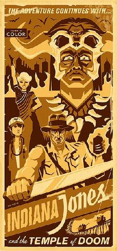 Indiana Jones and the Temple of Doom #fanart - love all of them!
