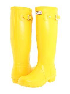 Hunter Original Rainboot | Think of the splash you'll make in these amazing Hunters! via @stylelist