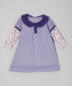 Look what I found on #zulily! Origany Lavender Birdie Organic Layered Dress - Infant, Toddler & Girls by Origany #zulilyfinds