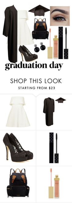 """""""Untitled #9"""" by aballaycandela ❤ liked on Polyvore featuring Elizabeth and James, Dolce&Gabbana, Gucci, Burberry, AERIN and graduationdaydress"""