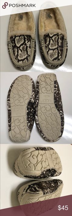 c32118f17 Ugg moccasins slippers Gently used size 9 sole length is removal fleece  insert - lots of wear left - I love them but they're too small UGG Shoes  Moccasins