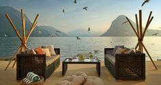 Entspannen Sie sich auf der privaten See-Terrasse des Hotels
