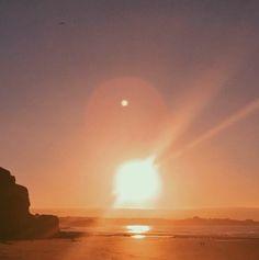 Watergate Bay December sunset #BeachRetreats