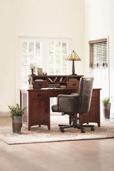 Artisan 2-Door Executive Desk - Computer Desks - Home Office - Furniture | HomeDecorators.com