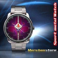 ACF Fiorentina Football Club Logo Sport Metal Watch   Merchanstore - Jewelry on ArtFire