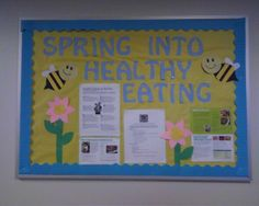 My national nutrition month bulletin board =)