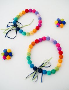 Colorful Necklaces for Girls via Mr P blog - Suddenly You on Etsy