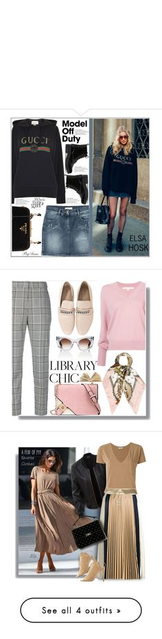 """"""""""" by guseva2504 ❤ liked on Polyvore featuring Gucci, Prada, Pierre Balmain, CHARLES & KEITH, polyvorecontest, modeloffduty, Veronica Beard, Alexander Wang, Hermès and Thierry Lasry"""