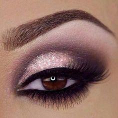 Rosa glitter flitter for brown eyes