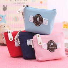 Girls Lace Small Mini Coin Bag Mini Coin Purse Change Wallet Purse Women Key Wallet Coin Wallet Children Kids Gifts