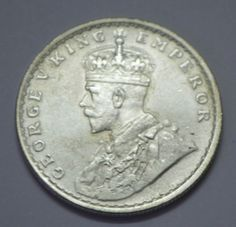 BRITISH-INDIA-1919-KING-GEORGE-V-ONE-RUPEE-SILVER-COIN-X-RARE