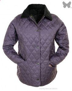 Barbour Ladies Shaped Liddesdale Quilted Jacket - Grape | Black LQU0063PU52