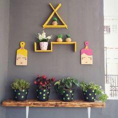 New Ideas Farmhouse Decor Diy Flowers Diy Wall Planter, Wall Mounted Planters, Diy Wand, House Plants Decor, Wall Decor, Room Decor, Diy Flowers, Interior And Exterior, Interior Design
